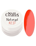 Nail art gel Red