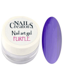 Nail art gel Purple