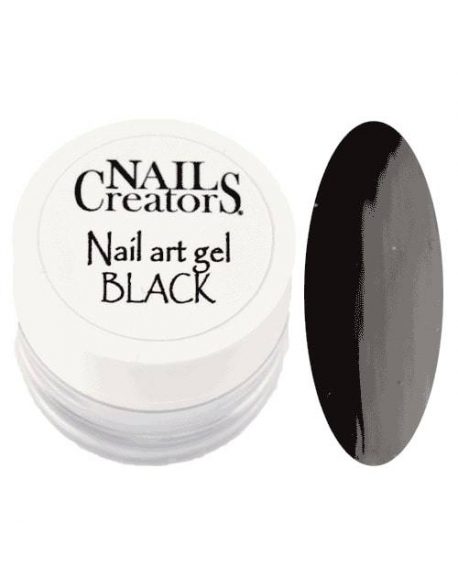 Nail art gel Black